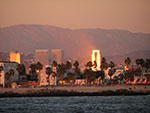 winter sunset golden light sailing charter Marina del rey
