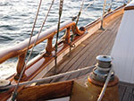 a run of teak sailing to Catalina